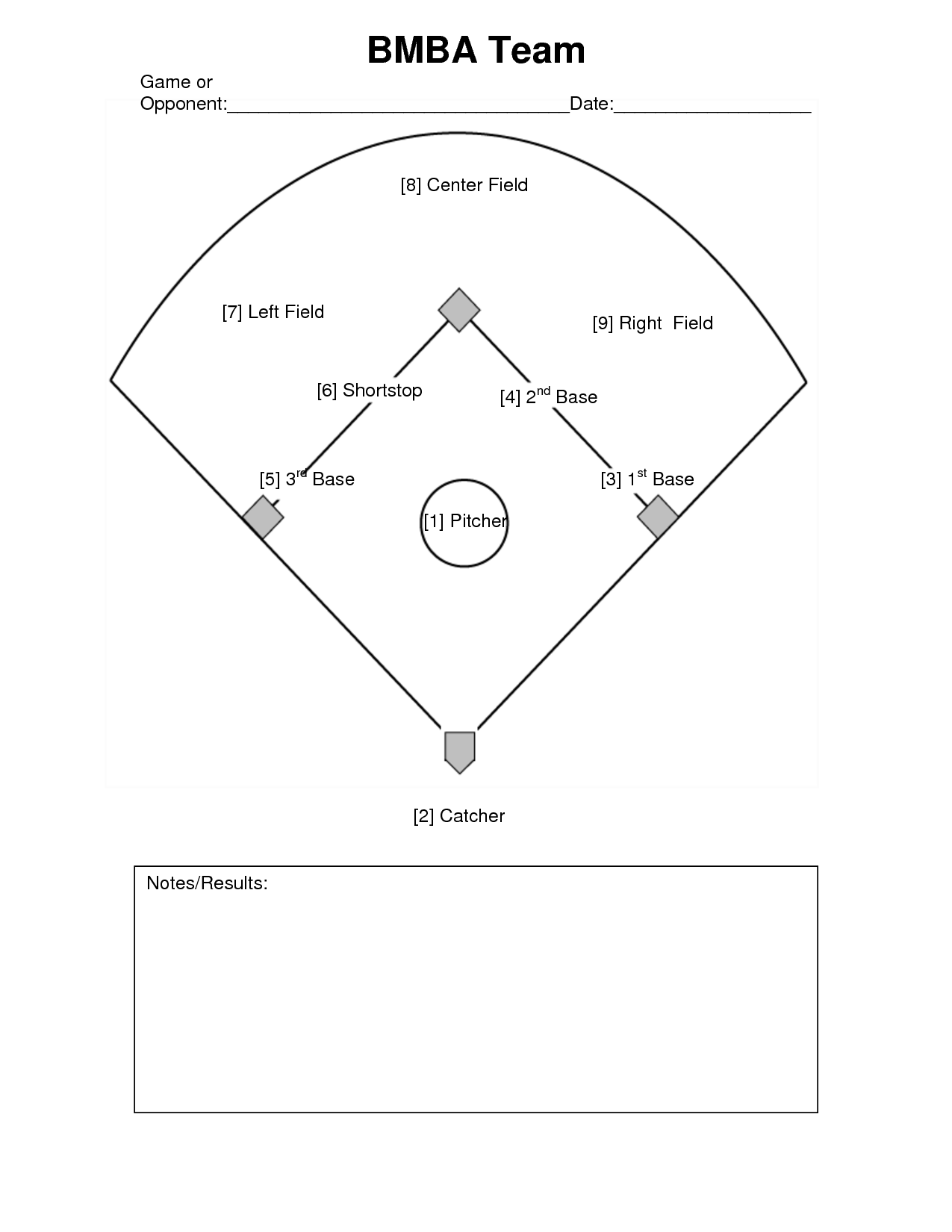 6 Best Images Of Baseball Diamond Worksheet