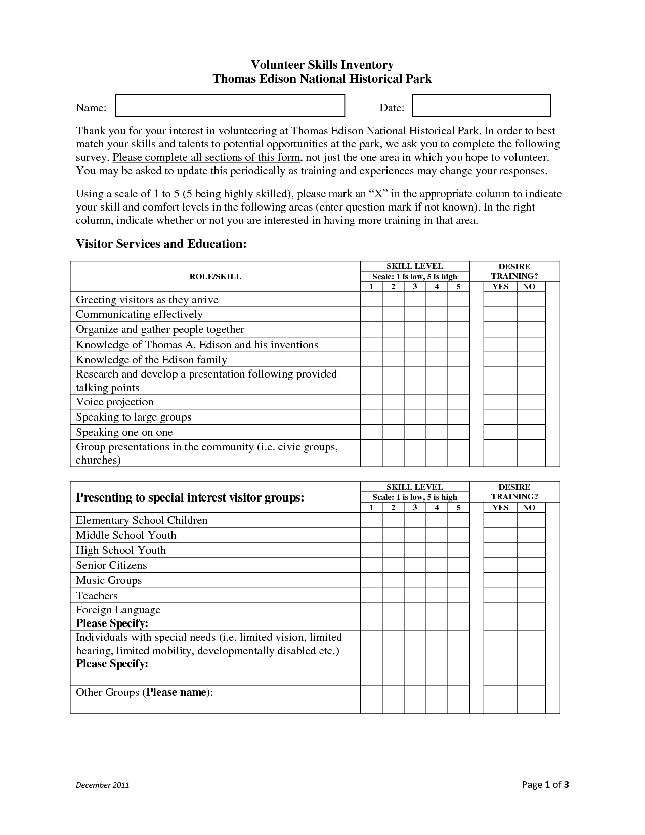 13 Best Images Of Skills Inventory Worksheet
