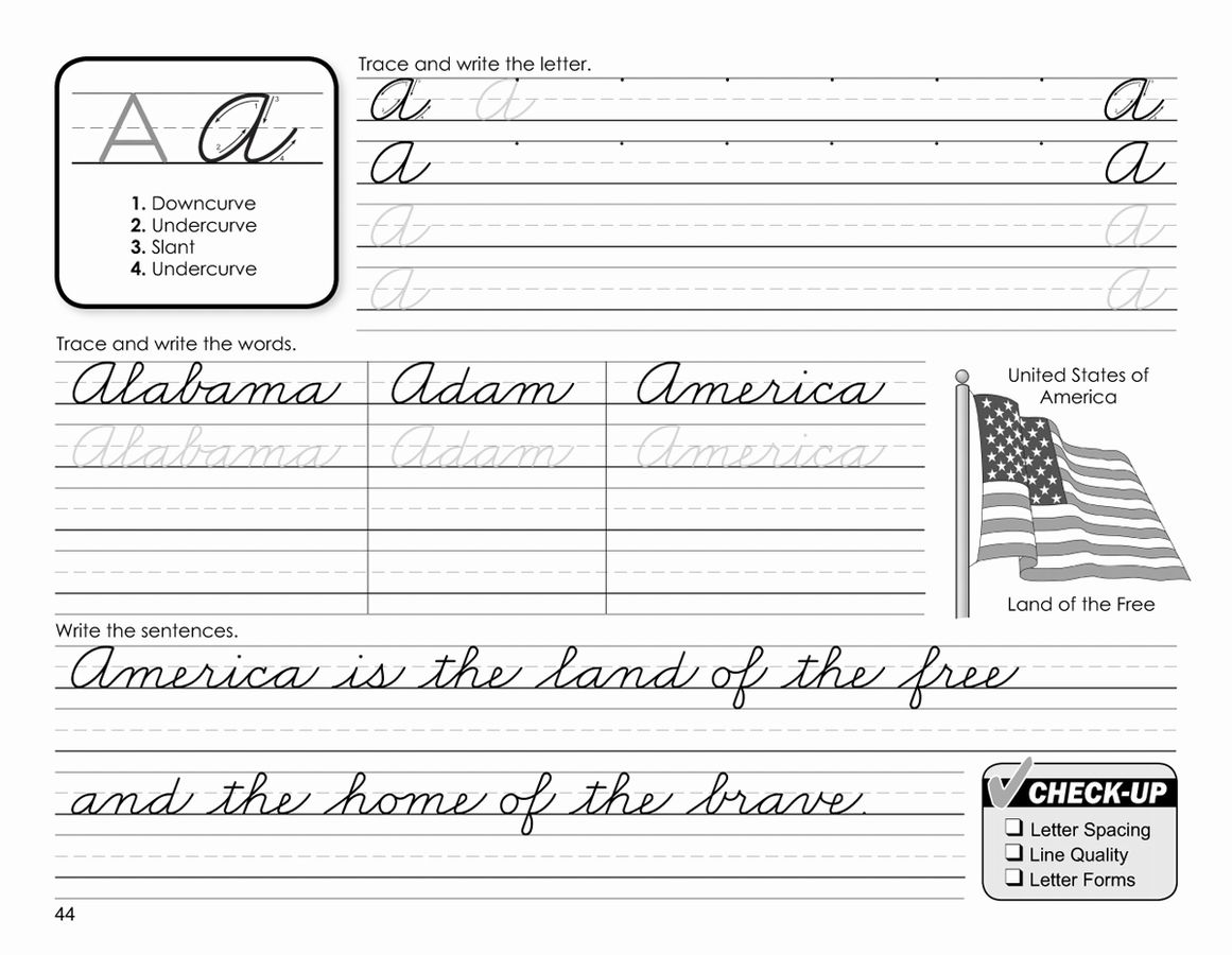 Cursive Handwriting Worksheet