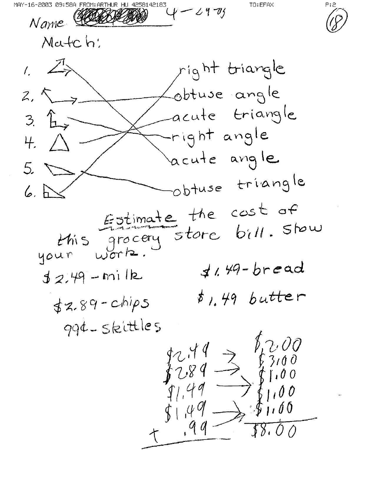 10 Grade Math Geometry Worksheet