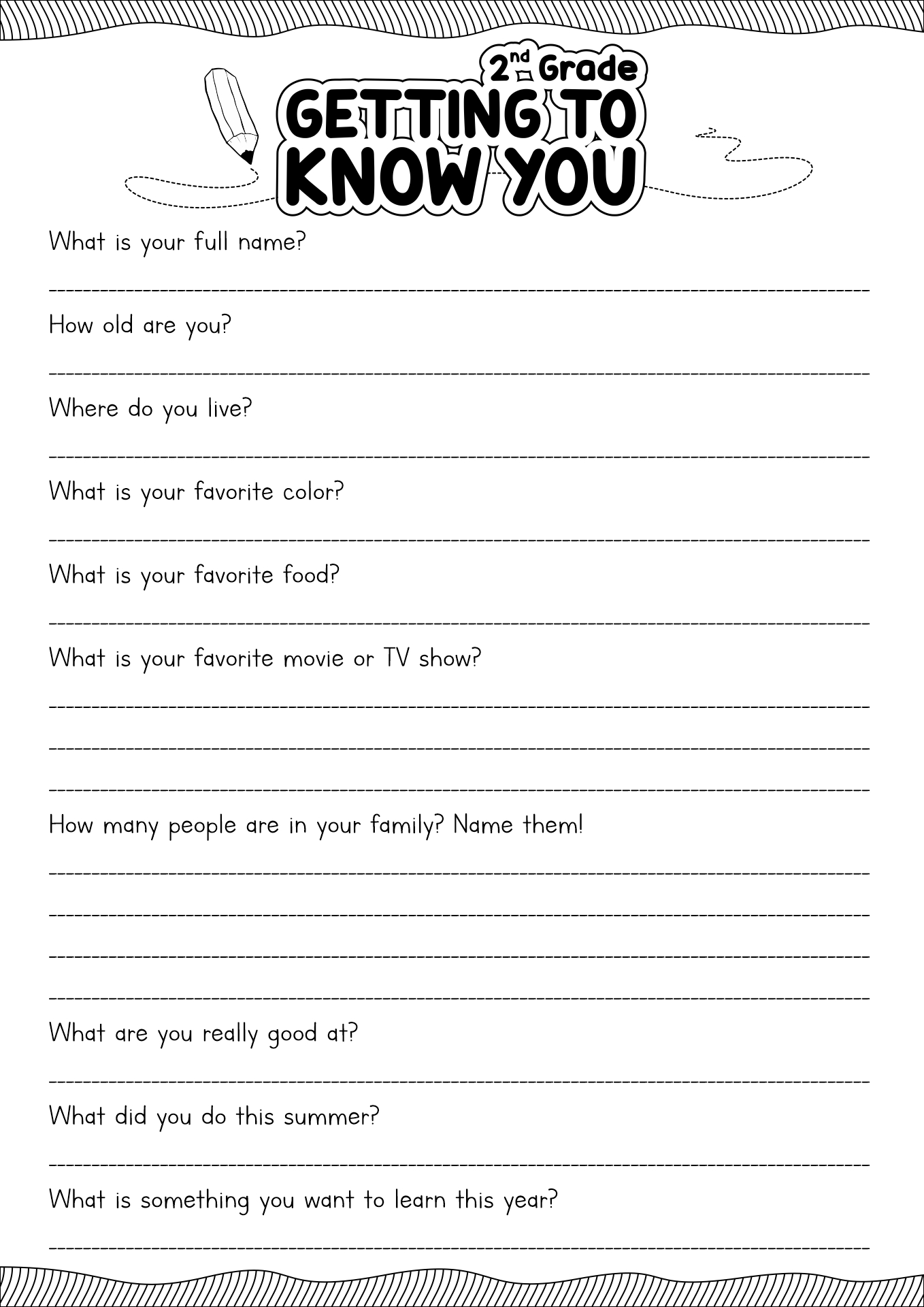 13 Best Images Of Get To Know Me Worksheet