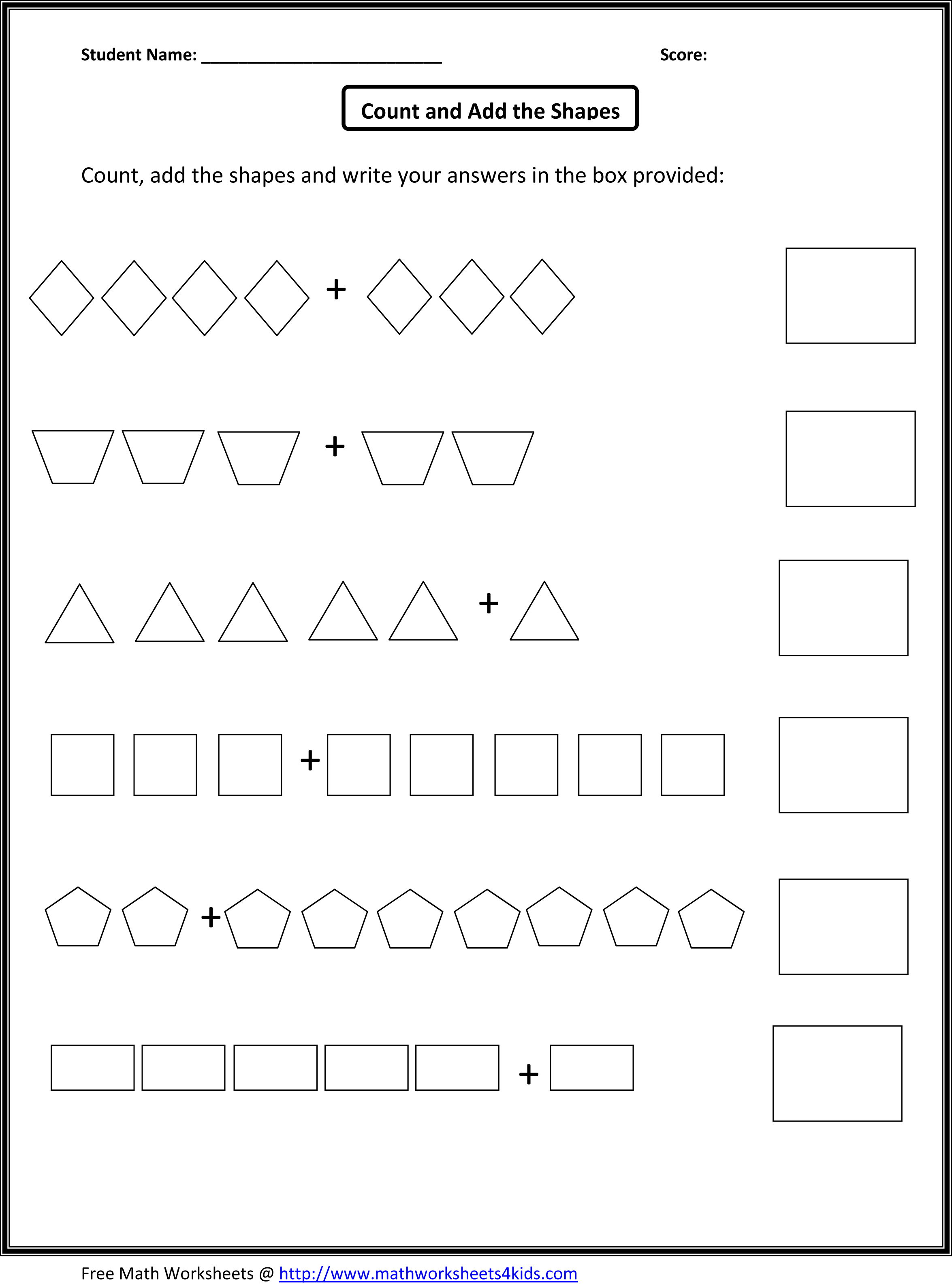 12 Best Images Of To Add Counting On Worksheets
