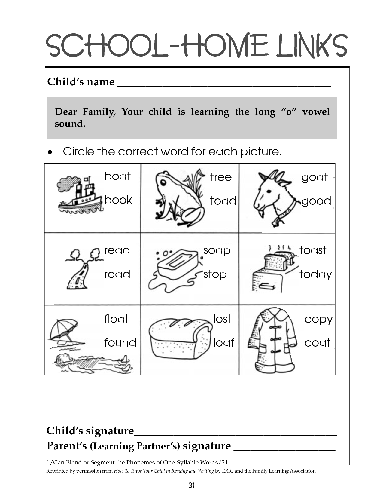 10 Best Images Of Long O Printable Worksheets