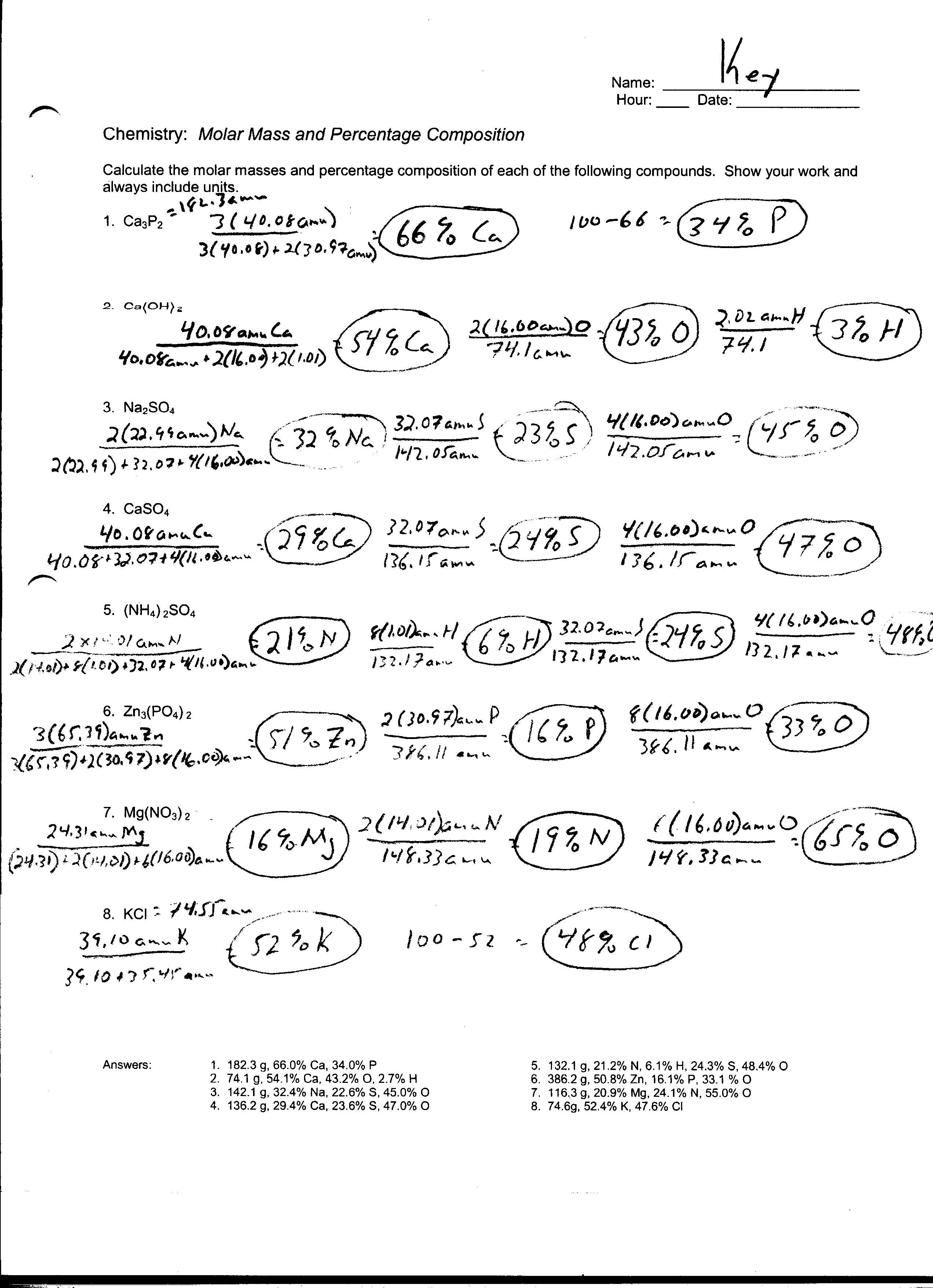 Worksheets Mass To Mass Stoichiometry Worksheet