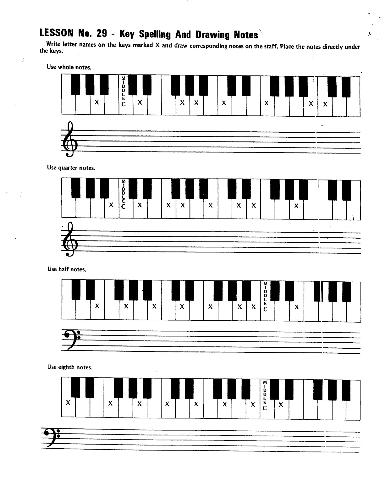 10 Best Images Of Piano Keyboard Worksheet