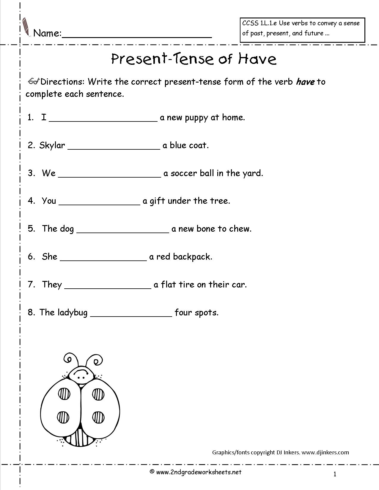 Simple Present Tense Worksheet For