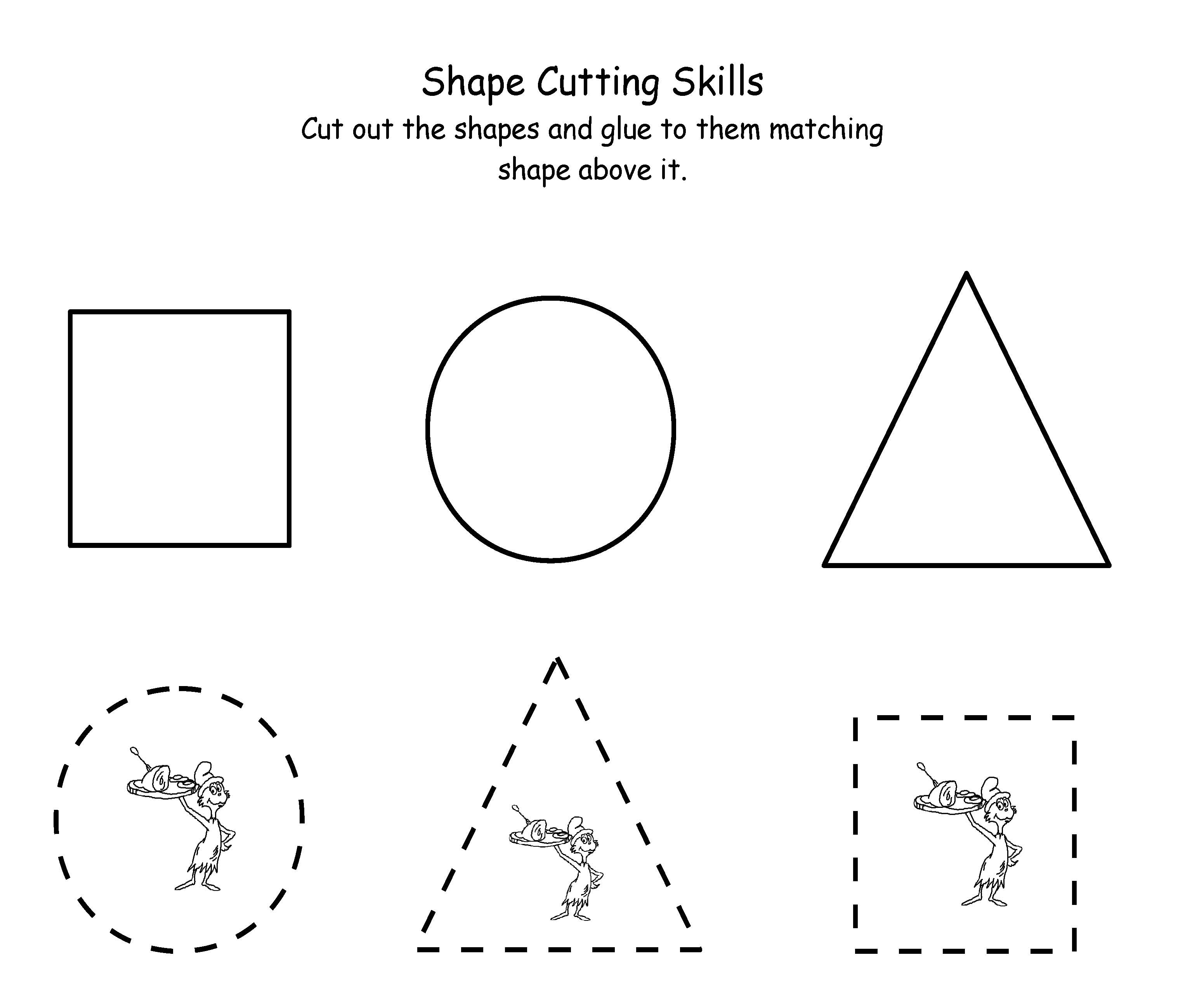 Printable Scissor Skills Practice Worksheet