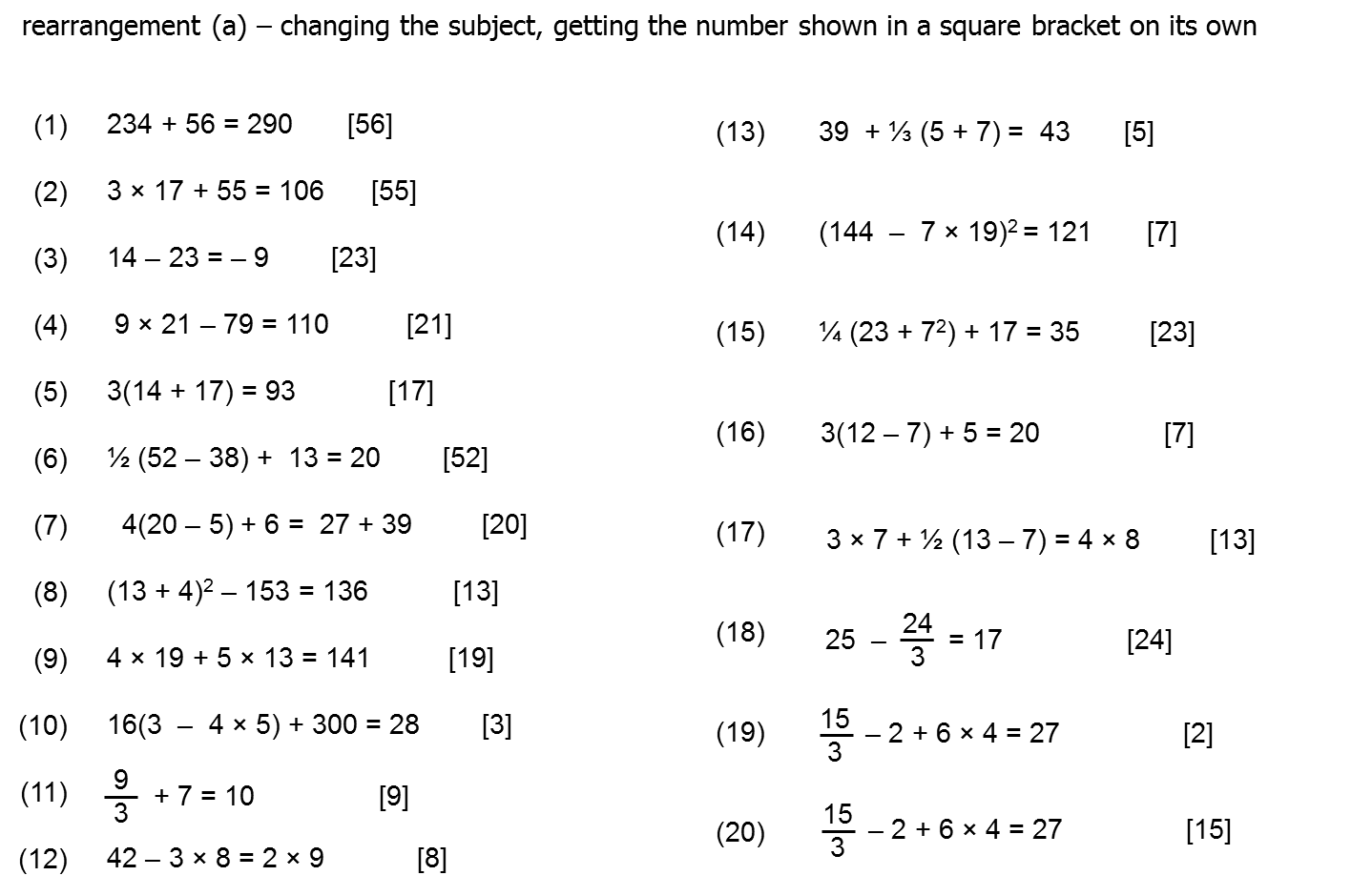13 Best Images Of Fraction Equations Worksheets