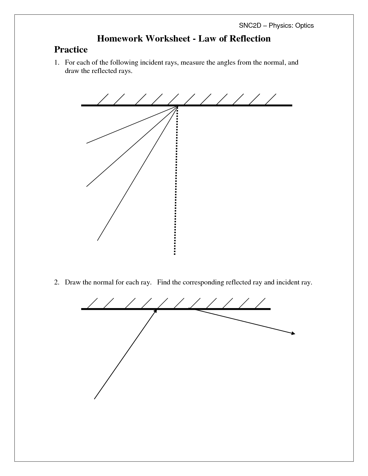 16 Best Images Of Science Worksheets On Reflection