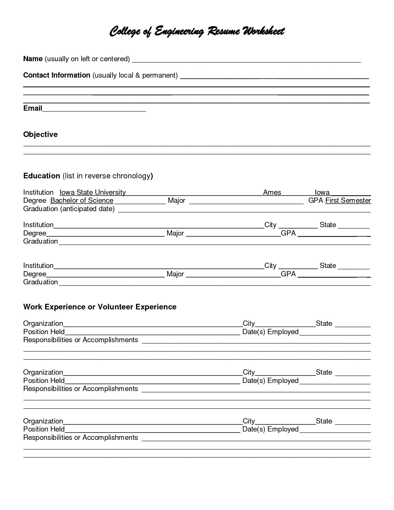 Bridge Building Worksheet Printable