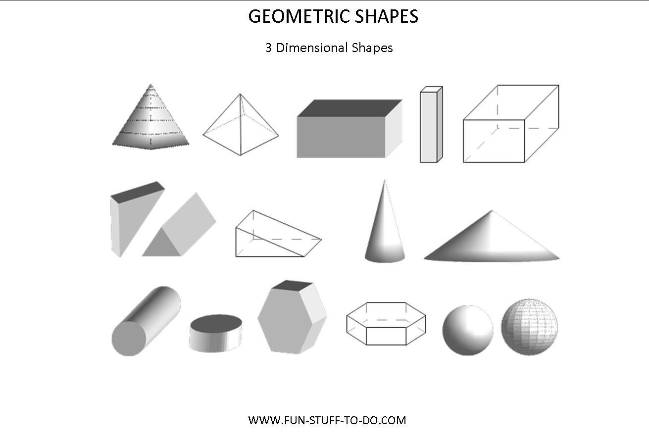 12 Best Images Of 3 Dimensional Shape Worksheets Printable