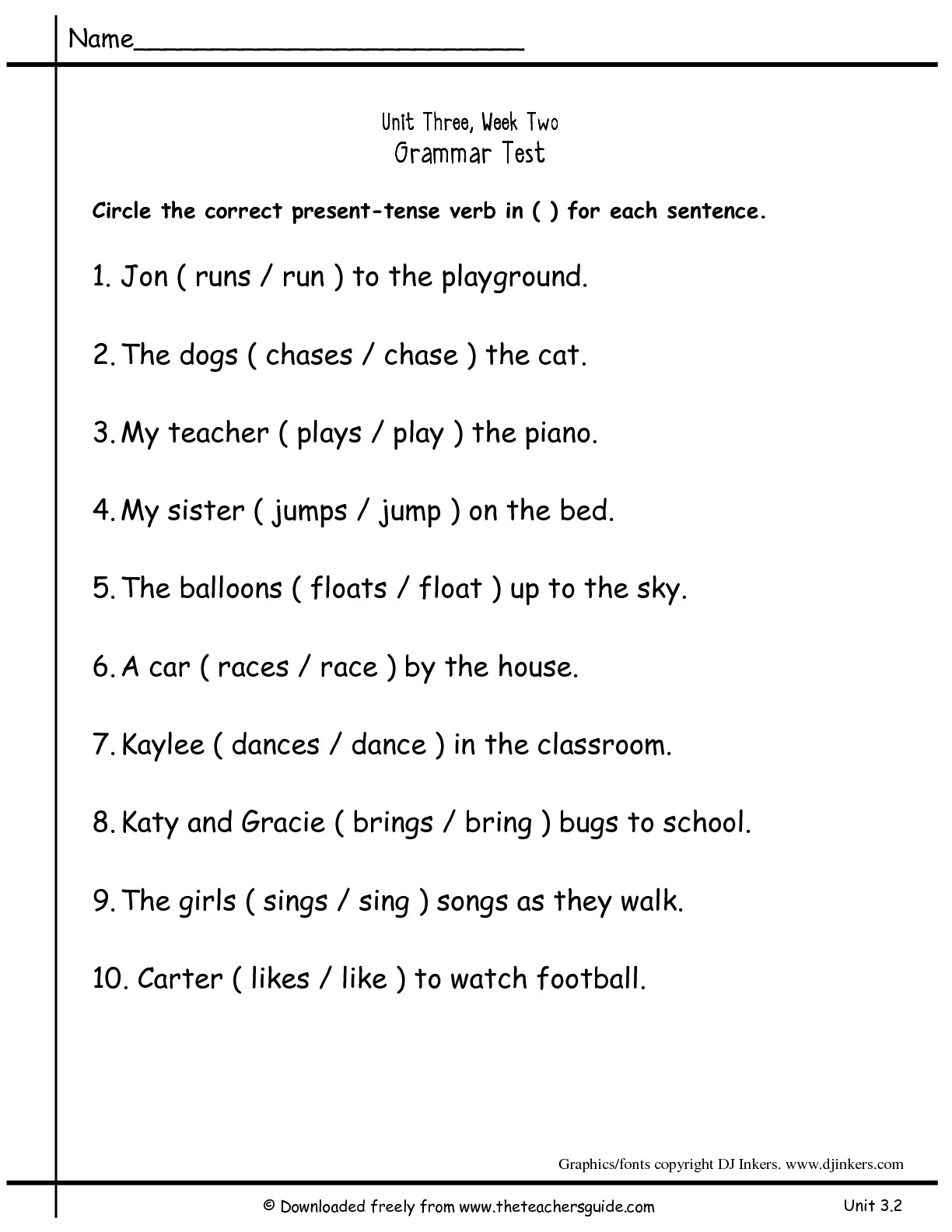 16 Best Images Of Past Tense Verbs Worksheets 2nd Grade