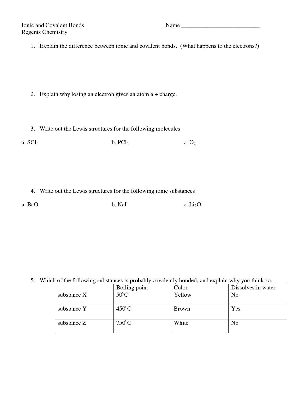 Naming Compounds Mixed Worksheet Key