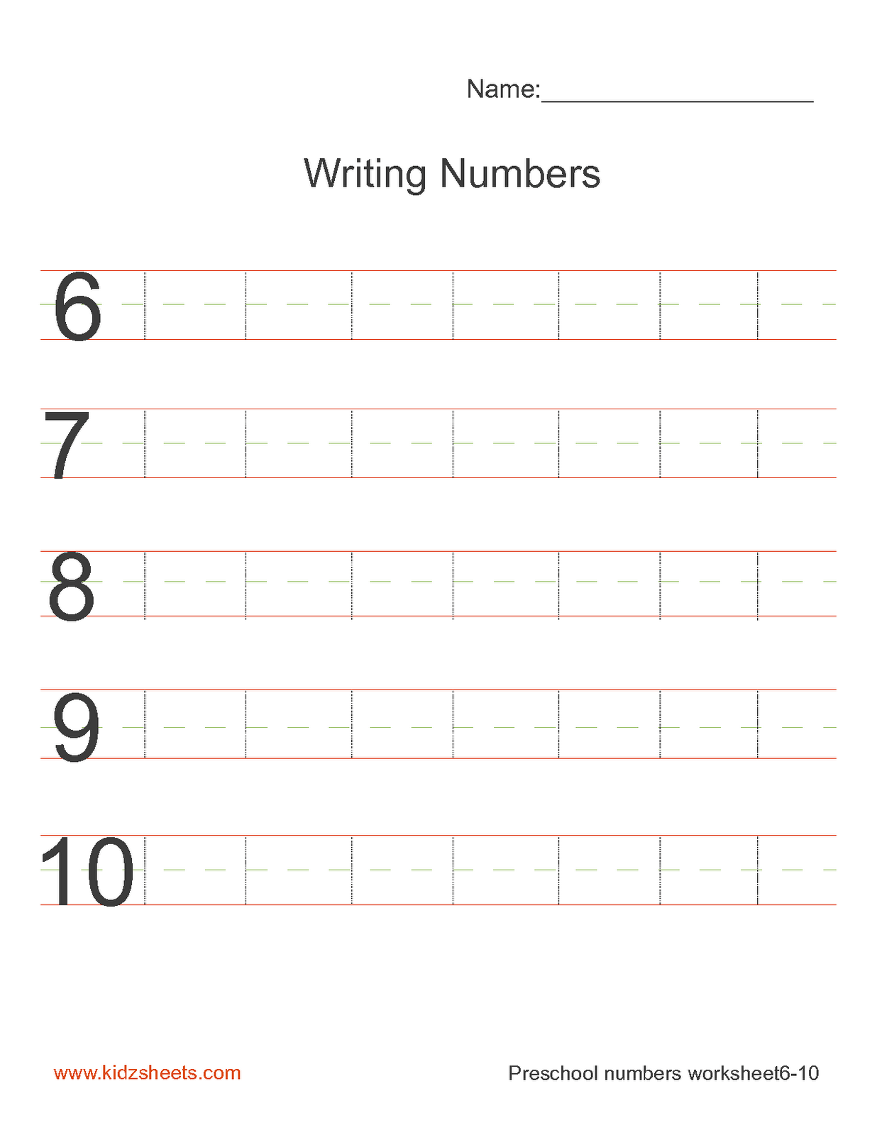 13 Best Images Of Number 1 Preschool Writing Worksheets