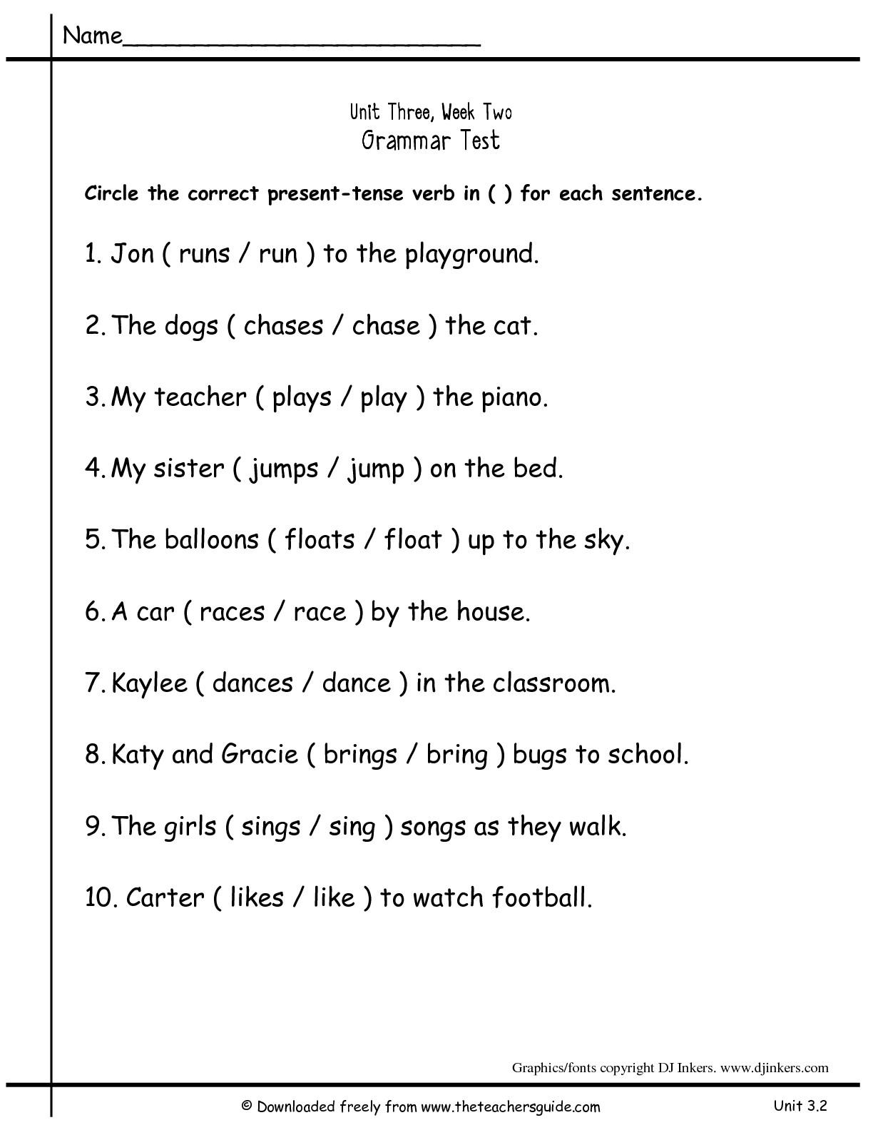 18 Best Images Of 1st Grade Grammar Noun Worksheets
