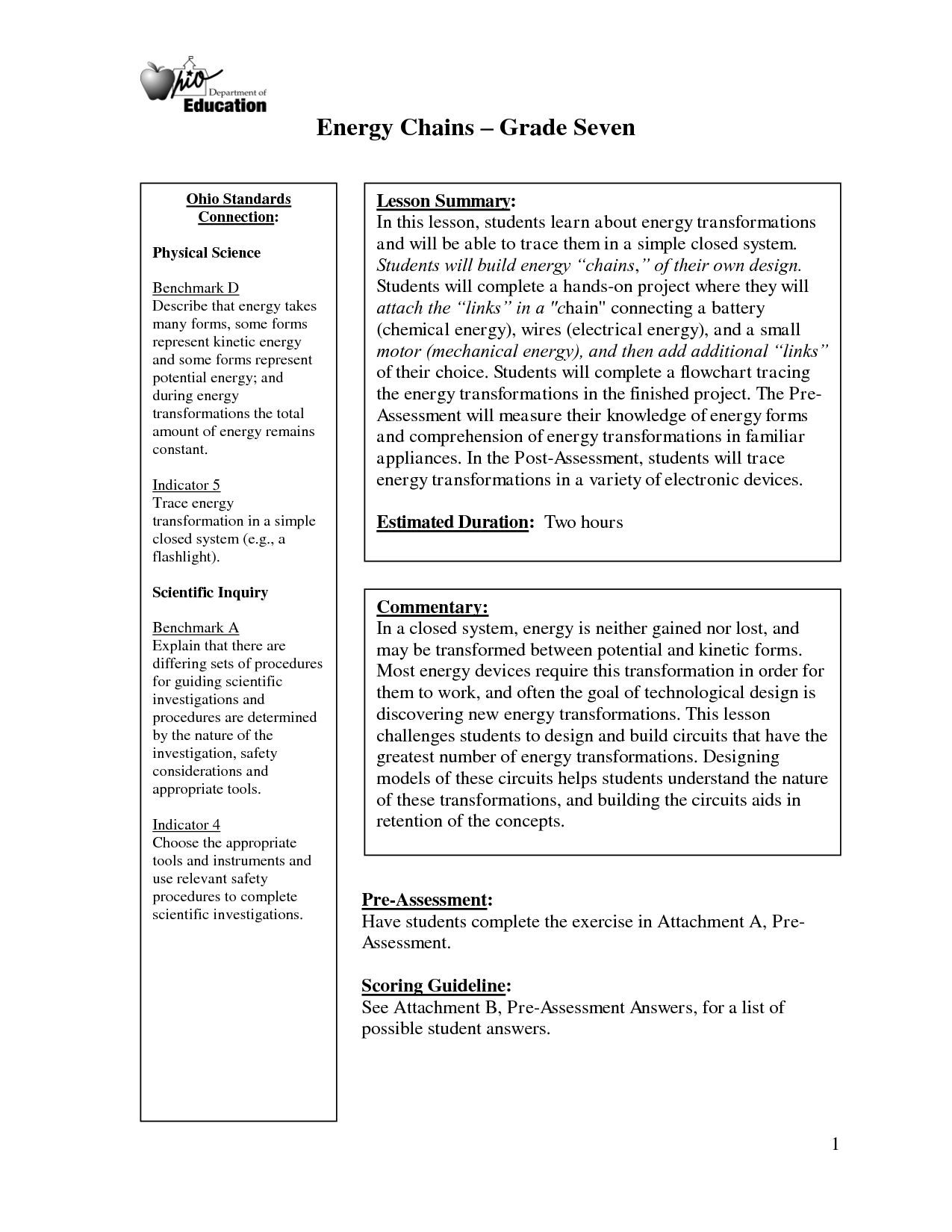 16 Best Images Of Energy Transformation Worksheet Middle
