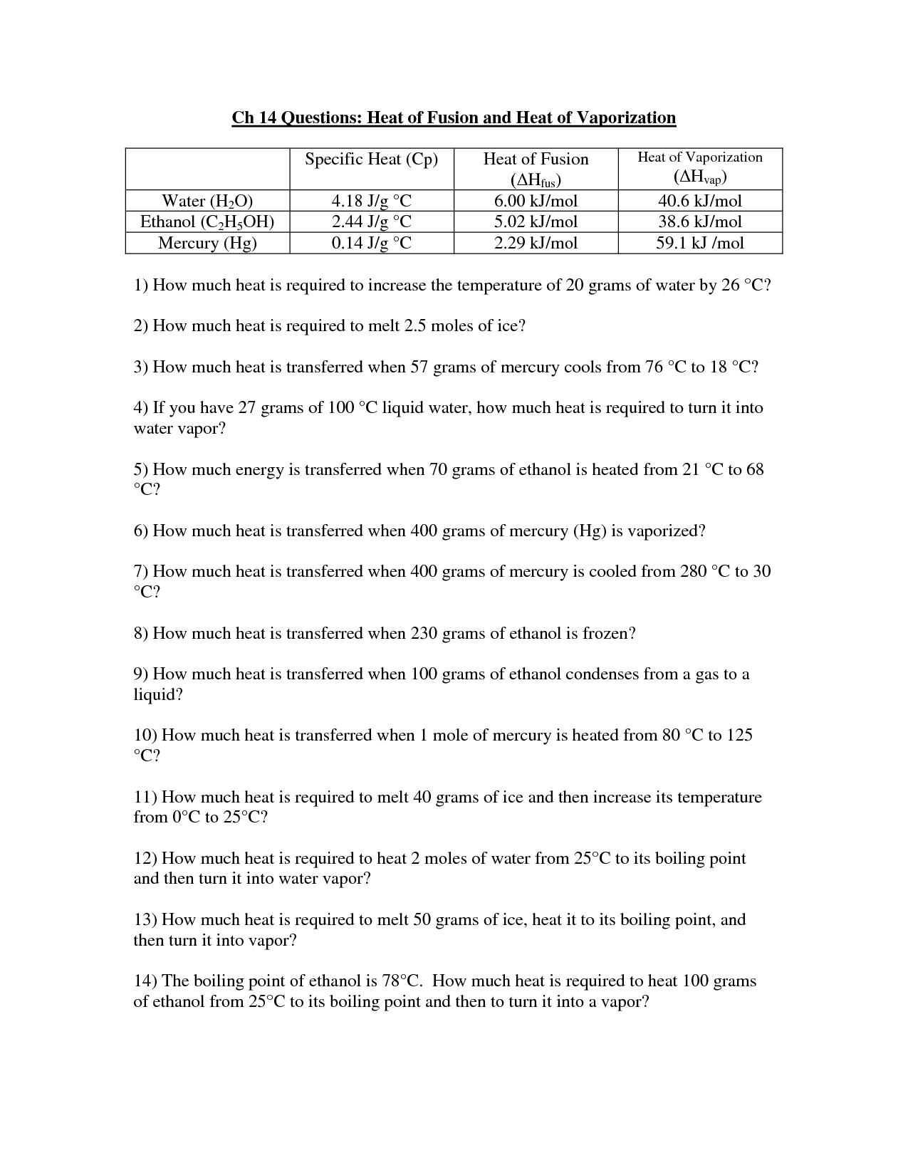 17 Best Images Of And Heat Thermal Energy Worksheet