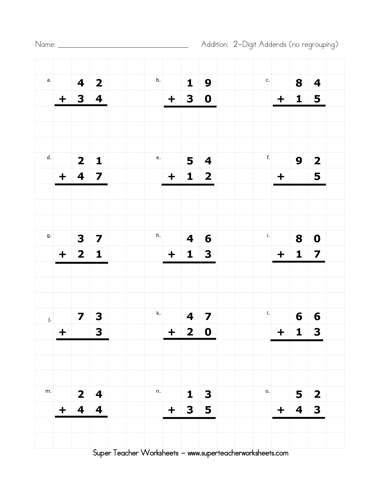 19 Best Images Of Worksheets Double Digit Addition With Regrouping