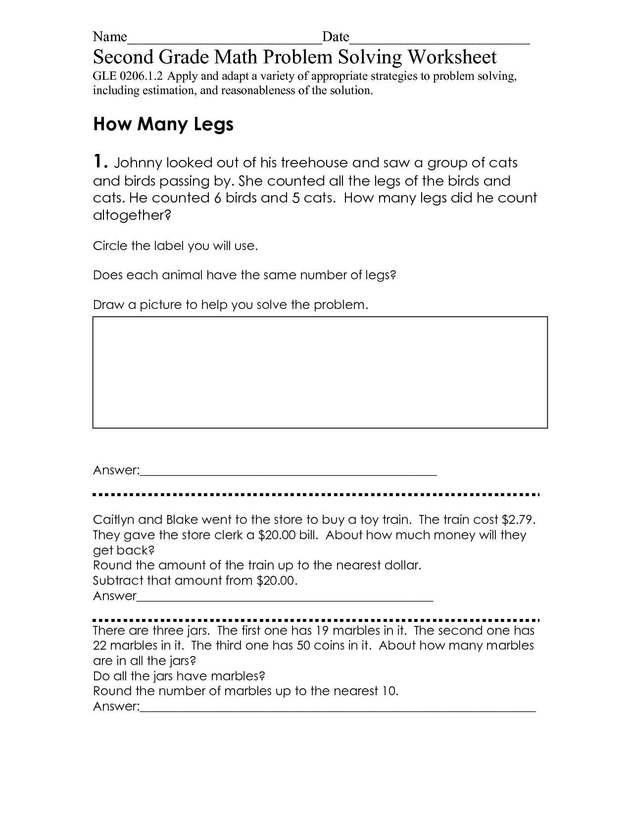 11 Best Images Of Math Problem Solving Worksheets