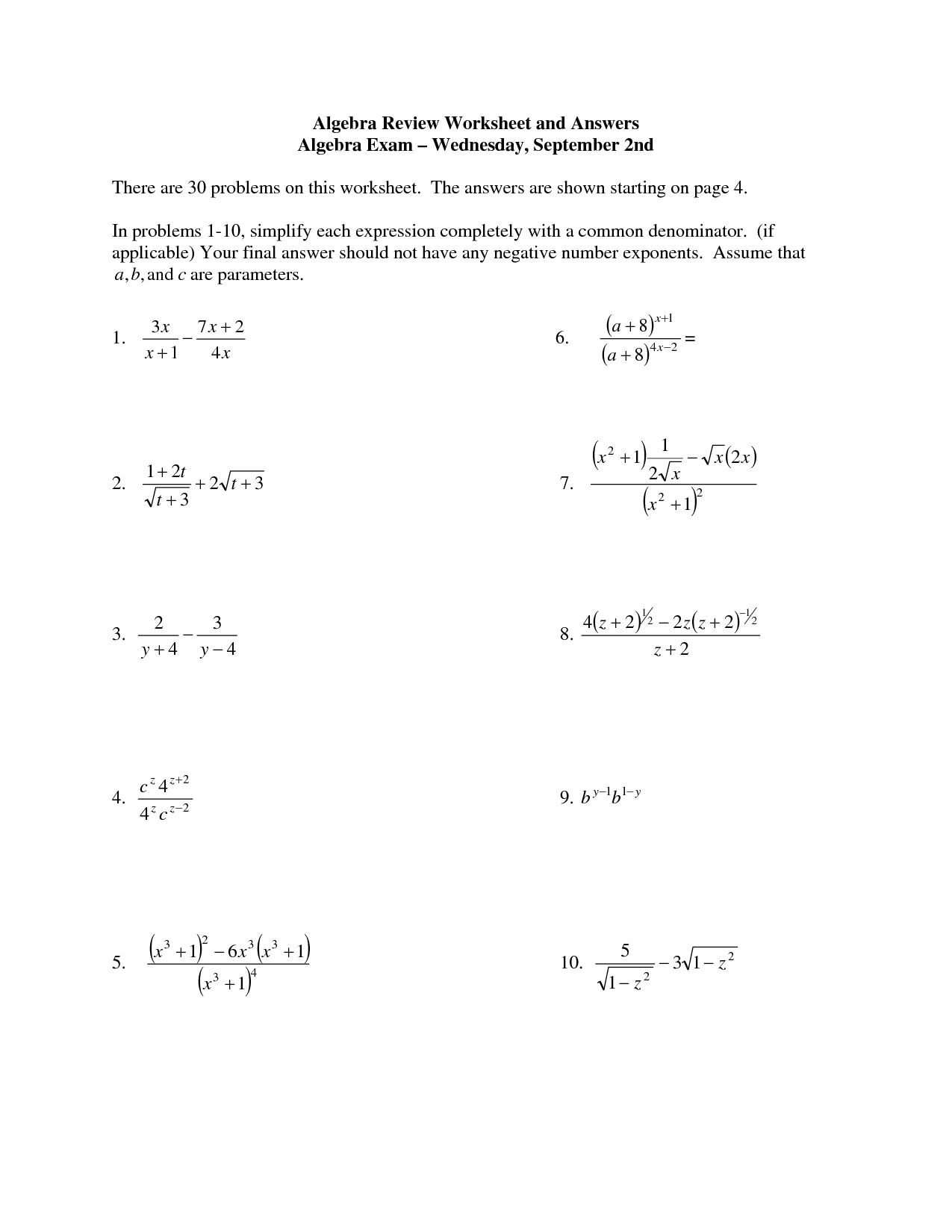 33 Pre Algebra With Pizzazz Worksheet Answers