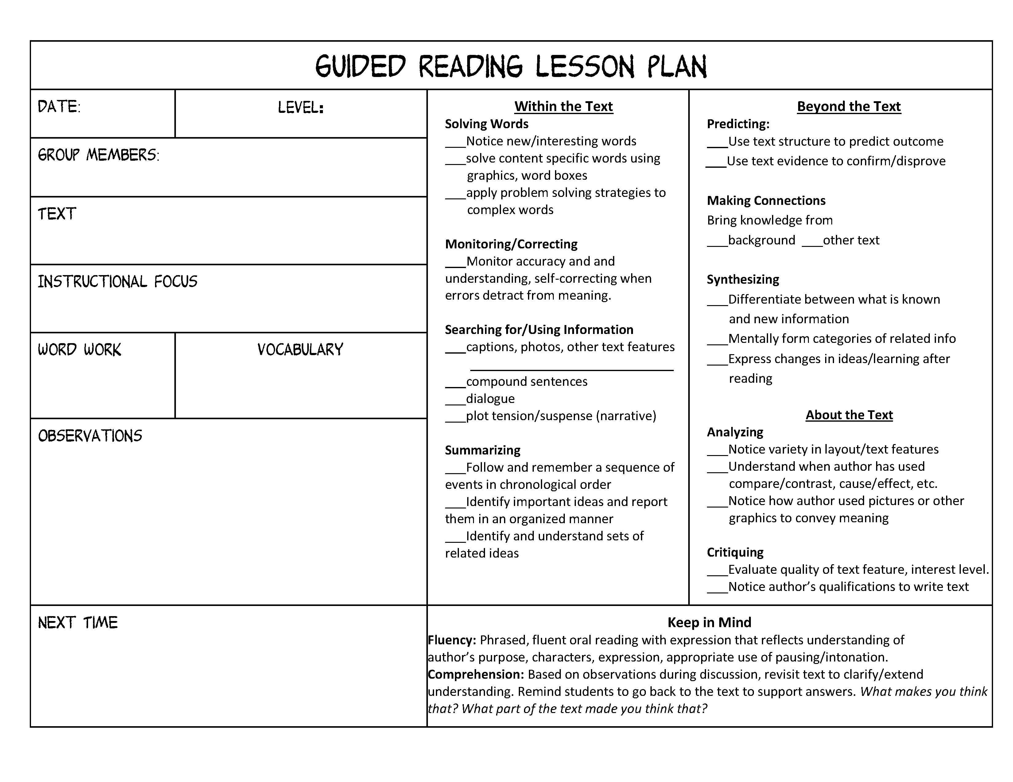 18 Best Images Of Non Fiction Response Worksheets