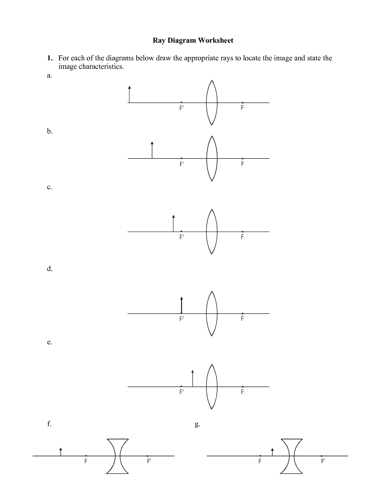 Convex Mirror Ray Diagram Worksheet