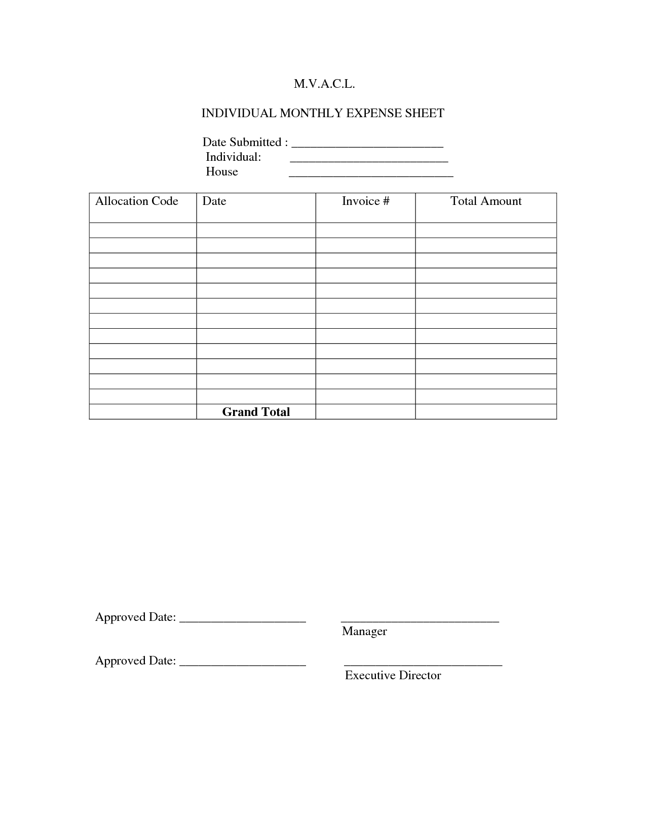 16 Best Images Of Expense Tracker Worksheet