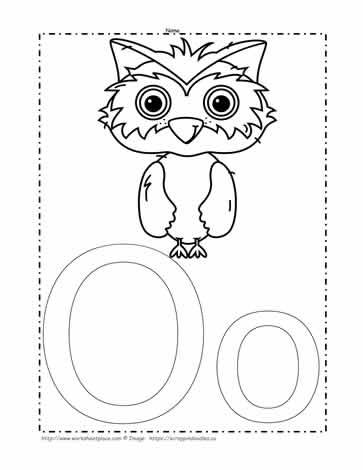 letter o coloring pages # 49