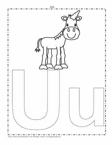 letter u coloring pages # 21
