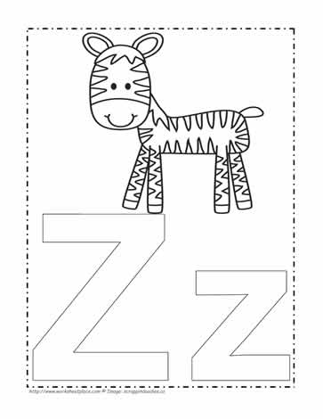 letter z coloring page # 4