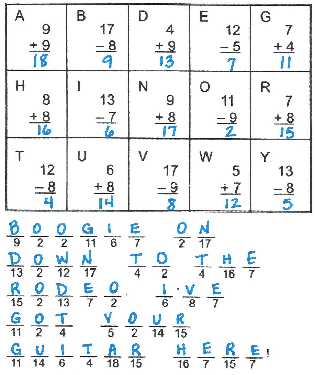 Math Worksheet Asc21
