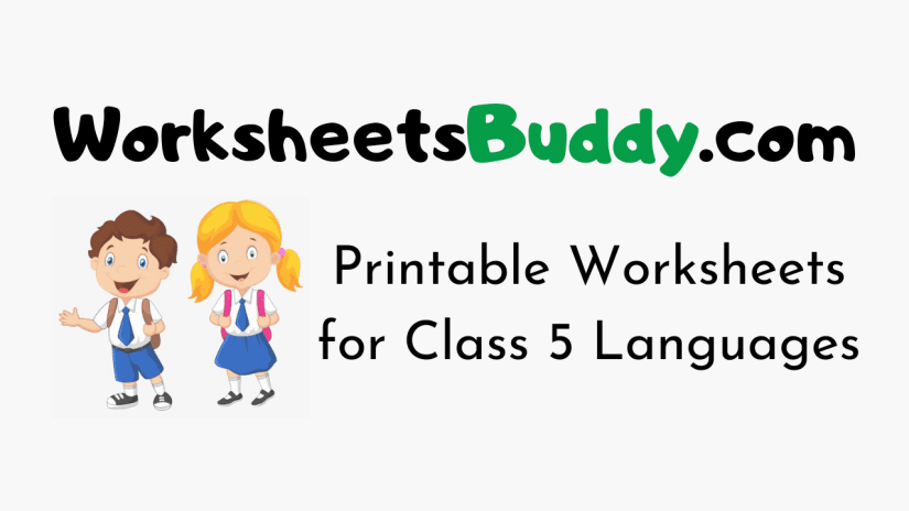 Worksheets for Class 5 Languages