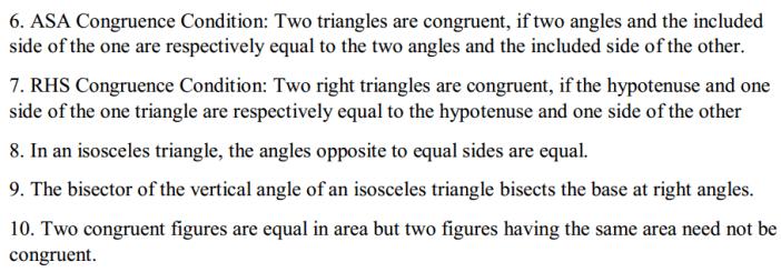 Congruence of Triangles Formulas for Class 7 Q2