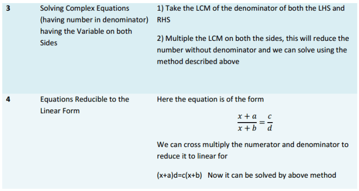 Linear Equations in One Variable Formulas for Class 8 Q5