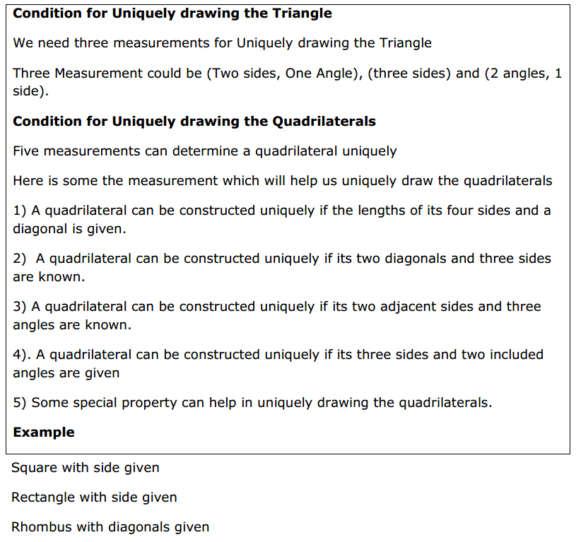 Practical Geometry Formulas for Class 8 Q1