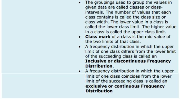 Statistics Formulas for Class 9 Q3