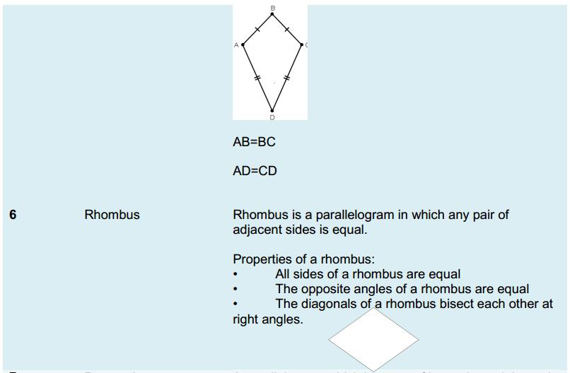 Understanding Quadrilaterals Formulas for Class 8 Q8