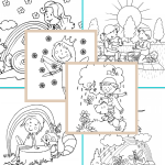 10+ Collection of Printable Spring Coloring Pages