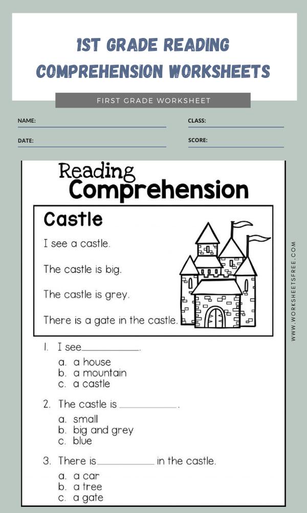 1st Grade Reading Comprehension Worksheets Printables : Grade 1 Worksheets  Free