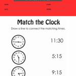1st grade clock worksheets 4