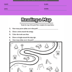 1st grade geography worksheets 2