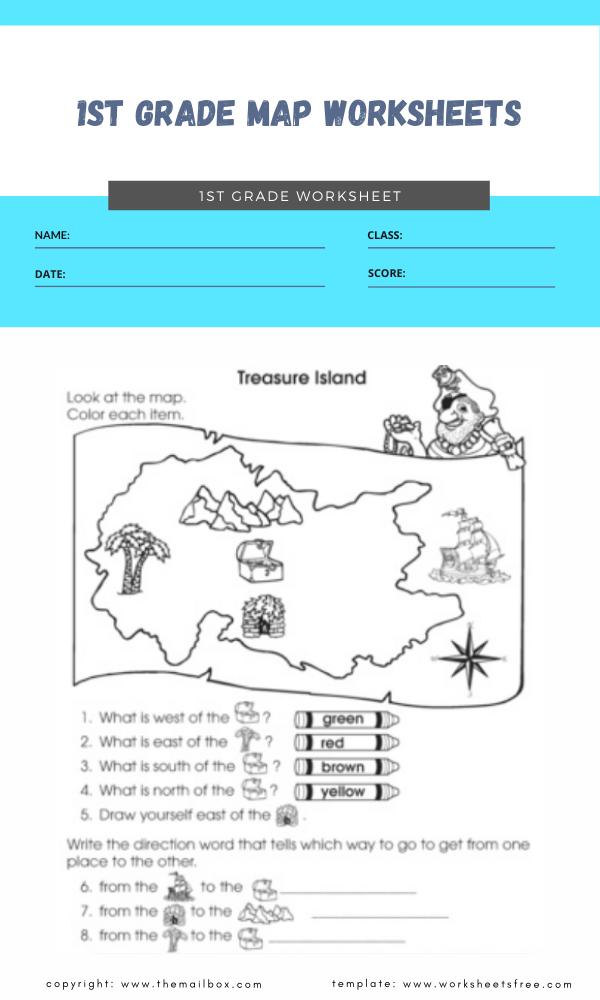 1st grade map worksheets 6