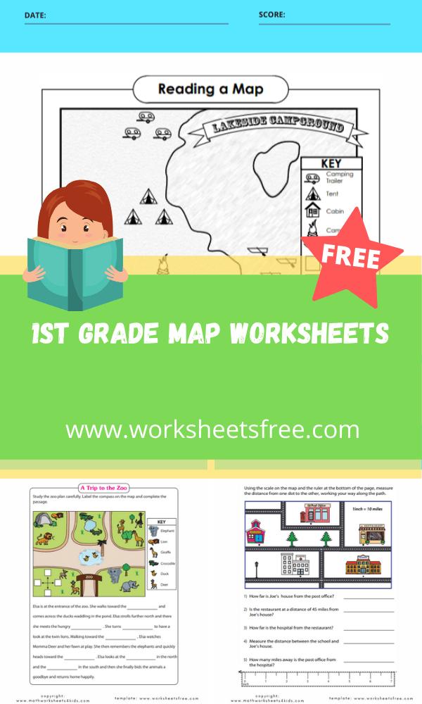 1st grade map worksheets