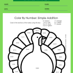 1st grade math coloring worksheets 1