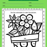 1st grade math coloring worksheets 2