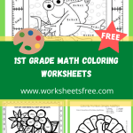 1st grade math coloring worksheets 4