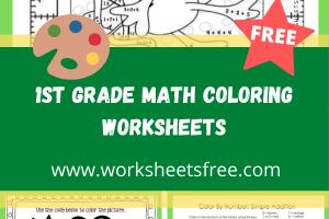 1st grade math coloring worksheets 4