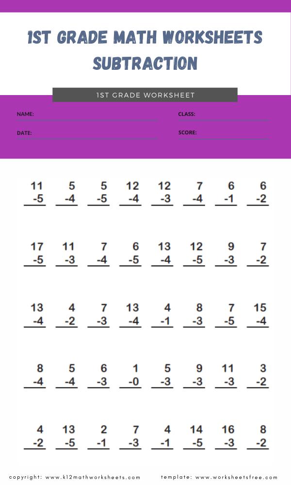 1st grade math worksheets subtraction 21st grade math worksheets subtraction 2