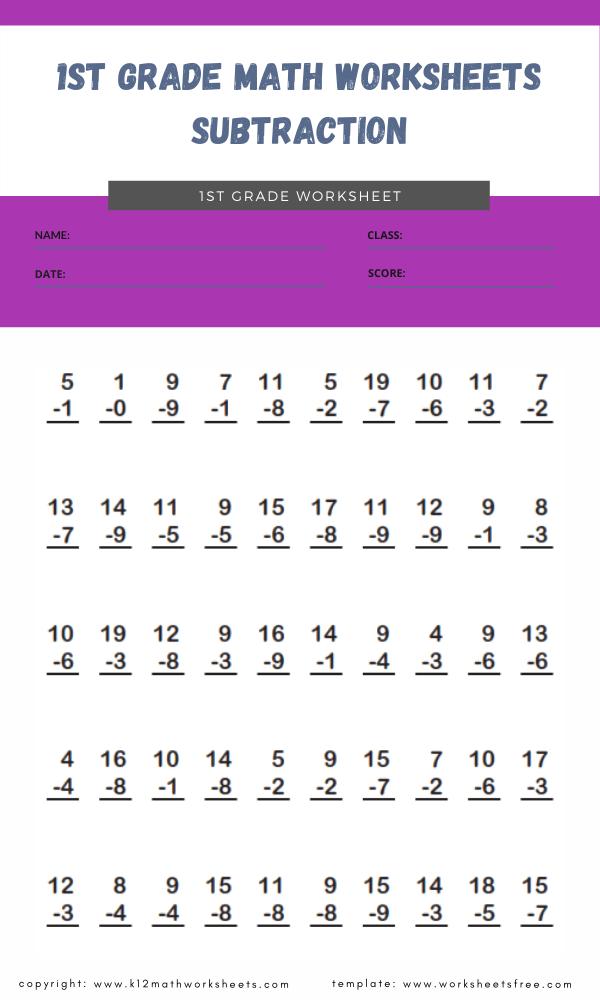 1st grade math worksheets subtraction 31st grade math worksheets subtraction 3