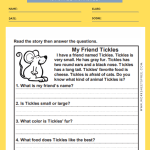 1st grade reading comprehension worksheets 8